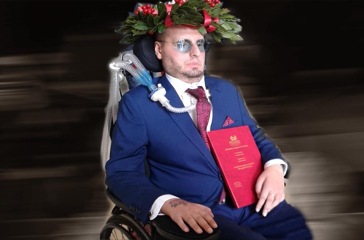 antonio tessitore-laurea antonio tessitore-sla antonio tessitore-heyoka-ability channel-studente con disabilità